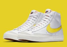 4162c926754a The Nike Blazer Mid 77 Vintage Arrives In Optic Yellow