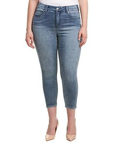 Melissa McCarthy Seven7 Womens Plus Size Skinny Jean Sideways 14W ** To view further for this item, visit the image link.