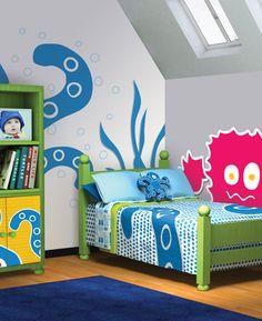 Monster inspired bedroom