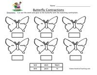 Contractions Worksheet: Cut out the word and glue to the bumblebee with the matching contraction. He'd, She'd, They'd, We'd, You'd, I'd    Contractions Worksheet – Click Here    Information: Contractions Worksheet. Contraction Worksheet. Apostrophe.