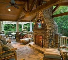 fireplaces terrace design