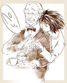 L and Watari - Death Note