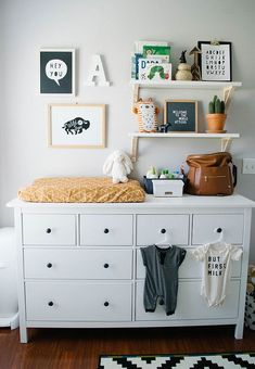 25 smartest and most functional ikea nursery hacks ikea nursery hacks a hemnes dresser by ikea is a nice storage piece and changing table - The world's most private search engine Baby Bedroom, Baby Boy Rooms, Baby Boy Nurseries, Kids Bedroom, Kids Rooms, Neutral Baby Rooms, Nursery Ideas Neutral, Simple Baby Nursery, Baby Boy Nursey