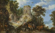 Roelandt Savery, 'Landscape with the Flight into Egypt,' 1624, National Gallery of Art, Washington D.C.