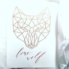 Packaging this up now to send to the new owner. I do love doing the geometric animals! . .⠀ #calligraphy #calligrapher #lettering #handlettering #handlettered #cute #love #beautiful #moderncalligraphy #handscript #inspire #inspiration #lonewolf #wallart #geometric