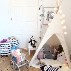 Inspiración infantil: Pon un tipi en la habitación de tus hijos