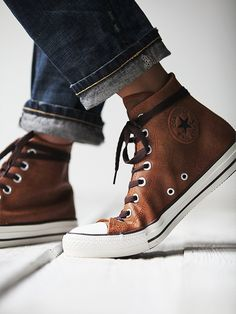 Converse Vintage Leather Travel Chucks at Free People Clothing Boutique