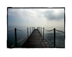 Quay in Lake Garda in the morning by CaughtOnCanvas9 on Etsy, £105.00