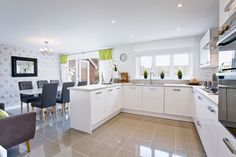 The kitchen in The Arundel at St Mary's Gate in Stafford   Bovis Homes