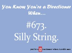 HARRY AND SILLY STRING <3 It seems mean but I laughed when I found our Harry sprayed some in a fans eye. Haha