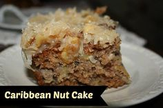 **CARIBBEAN NUT CAKE ** Preheat oven to 350 degrees Cake Ingredients:. 2 cups all-purpose flour 1 cup sugar 2 teaspoons baking soda 1 teaspoons ground cinnamon 1 ounce) can crushed pi. Köstliche Desserts, Delicious Desserts, Yummy Food, Susan Recipe, Cake Recipes, Dessert Recipes, Cookbook Recipes, Loaf Recipes, Oven Recipes