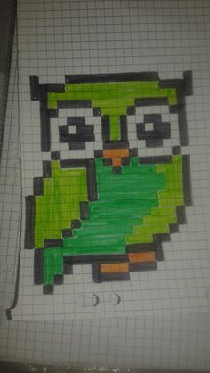 pixel art - Page 14 Sharpie Drawings, Cute Drawings, Modele Pixel Art, Pixel Drawing, Pix Art, Graph Paper Art, Pixel Pattern, Canvas Designs, Perler Patterns