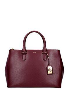 N91XZ0ABXY0ABXW0AS-Ralph-Lauren-Handtasche-Damen-Leder-Violett