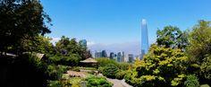 Panorama of Santiago from the Japanese botanical garden
