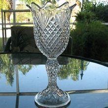 EAPG Crystal Celery Vase(s)  Shepherd's Plaid 1896-1902