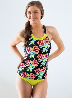 efe73742d158d Cute new Lime Ricki suit. Bring on Spring Break. Cinch-Neck Rose Tankini.  Swimsuits ...