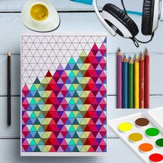 Printable Triangles Coloring Page, Triangles Shape Prints, Geometric Coloring Sheet Digital, Adult Color Patterns, Doodle Coloring For Adult Printable Triangles Geometric Coloring Pages, Heart Coloring Pages, Butterfly Coloring Page, Printable Coloring Pages, Pattern Coloring Pages, Free Coloring Pages, Doodle Patterns, Zentangle Patterns, Color Patterns