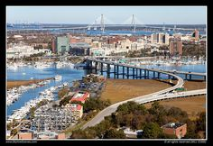 charleston south carolina | Aerial of Downtown Charleston, South Carolina | Flickr - Photo Sharing ...