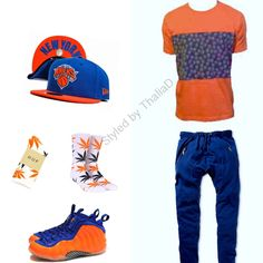 NF Bandit Tee, ZUMIEZ joggers, HUF SOCKS, NY KNICKS FITTED AND FOAMPOSITES
