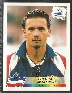 Panini World Cup France Mijatovic Football Stickers, Football Cards, Football Players, Baseball Cards, 1998 World Cup, World Cup 2018, Fifa World Cup France, Badge Logo, Back To Black
