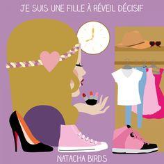 """le mug """"fille à réveil décisif"""" by Natacha Birds"""