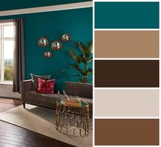gorgeous living room paint color ideas for the heart of the home 1 Modern Color Schemes, Paint Color Schemes, House Color Schemes, Room Paint Colors, Living Room Color Schemes, Paint Colors For Living Room, Paint Colors For Home, Bedroom Colors, House Colors