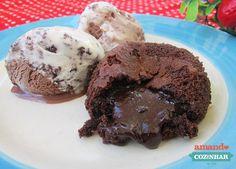 Petit Gateau de chocolate fácil - Amando Cozinhar - Receitas, dicas de culinária, decoração e muito mais!