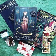 This month's #mythicalcreatures @owlcrate is amazing! Check out all the awesome goodies. The book looks so fun! Squeee!  #bookstagram #booksofinstagram #bookstagrammer #subscriptionbox #unboxing #owlcrateunboxing #bookcover #bookmark #coinpurse #bathsalts #dragons #hippogriff #mermaids #bookish #bookstagramfeature #bookbox #booksandbaubles #foxwayfeatures