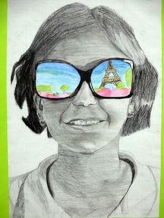 """The 7th Graders have finished their """"Shades of Summer"""" self portraits this week and I think they are amazing! Before we began the project, s..."""