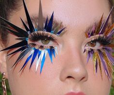 "Lou on Instagram: ""Spiked ⚡️ Inspo: @donni.davy @face_lace @kirinrider #makeup #makeupartist #editorial #editorialmakeup #avantgardemakeup #eylurelashes…"""
