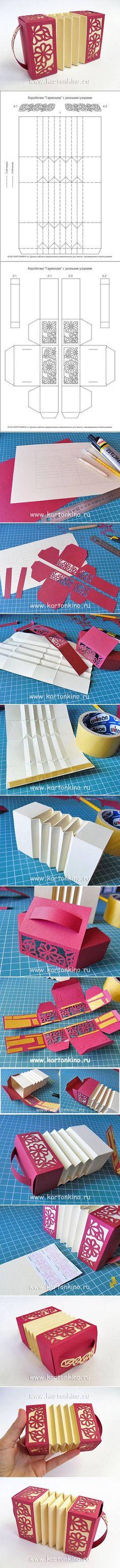 Ziehharmonika-Box mit Foto-Anleitung (Original von www.papierkino.ru):