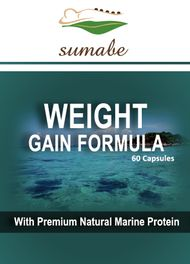 Sumabe Weight Gain Formula with premium natural marine protein, 60 capsules
