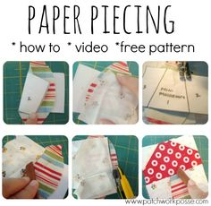 Paper piecing allows you to get close to perfect quilt blocks. It is a process that allows you to join multiple pieces, weird shapes, small pieces and perfect points. It's kind of like sewing by numbers all most. Just follow the numbers (they tell you the order to place the fabric) and you'll be good …