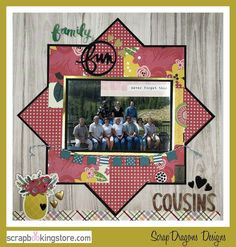 Family Fun scrapbook layout by Melissa(@melissabier) using our gorgeous August 2020 Kit ✂💯✂  ⁣⁣⁣#scrapbookingstore #summerfun #scrapbooklayout #scrapbookingkits #papercraft #scrapbooking #cardmaking