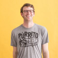 Because you love #cats and #burritos therefor.... Purrito T-Shirt //  #funnygift #fordad
