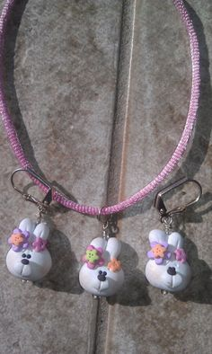 Children's Polymer Clay Easter Bunny por LisaCrystalCreations