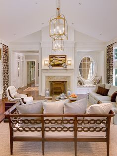 Traditional Two Lanterns On Ceiling In Family Room Design, Pictures, Remodel, Decor and Ideas - page 12