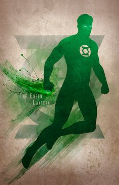 Original Giclee Art Print 'The Green Lantern' by DigitalTheory