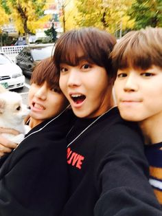 Tae's dog is in love with J Hope