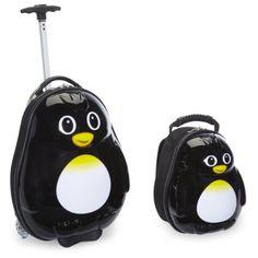 Amazon.com : Travel Buddies Rusty Robot Luggage, Blue, Red, Yellow : Trendy Kid : Baby