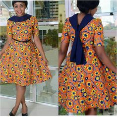 Amazing And Beautiful Short Ankara Style Gown - Eazy Vibe African Fashion Ankara, Latest African Fashion Dresses, African Dresses For Women, African Print Dresses, African Print Fashion, Africa Fashion, African Attire, African Wear, African Prints