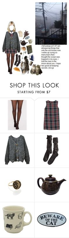 """""""crazy cat lady"""" by coffee-and-jazz ❤ liked on Polyvore featuring MANGO, Chicnova Fashion, Polder, Fishs Eddy, Cultura and vintage"""