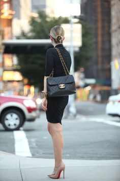 The chic look of all black you can never go wrong with and finished off with a Chanel bag.
