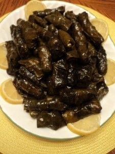 Lebanese grape leaves