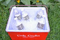 Easy fancy party drinks with Duck Tape @ CharmingZebra.com
