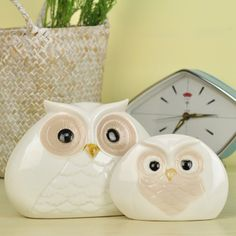 European-style garden home ceramic mother and child owl garden cafe bar decorations