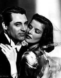 Cary Grant and Katharine Hepburn, BRINGING UP BABY (1938).