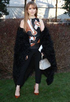 Kristina Bazan au défilé Dior