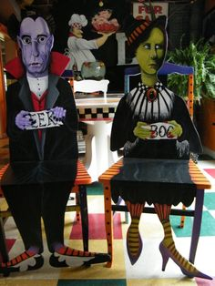 Gothic American Gothic Chairs by dogsoverthemoon on Etsy