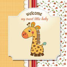 Cute Kid card design vector 08 Maria Jose, Owl Cartoon, Cute Cartoon, Little My, Little Babies, Baby Cards, Kids Cards, Vector Free Download, Cute Backgrounds